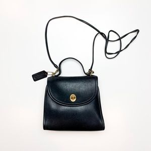 Vintage Coach 9983 Regina Black Crossbody Bag